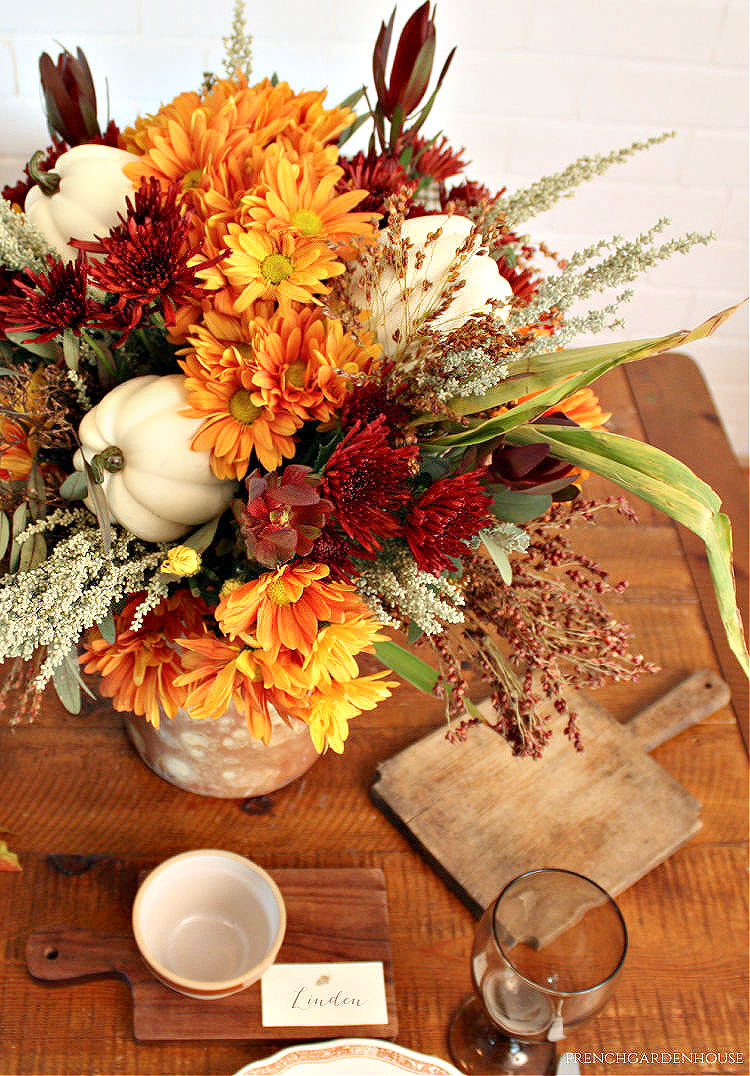 Autumn Flowers and Pumpkins