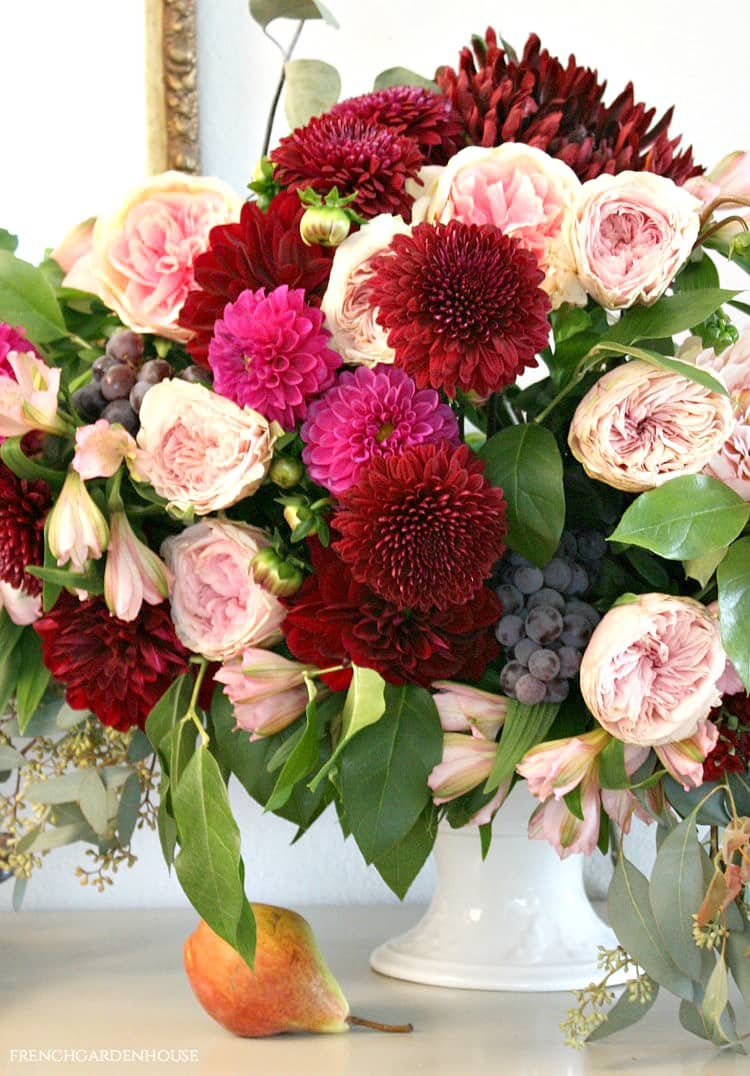 Floral Arrangement in Autumn's Stunning Color Palette