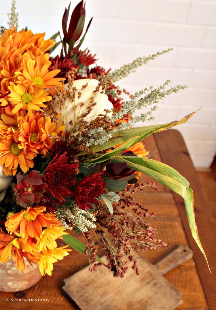 fall flower centerpiec