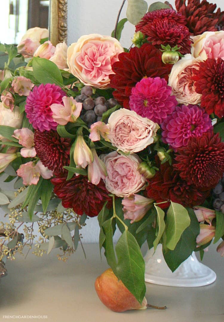 Floral Arrangement in Autumn's Stunning Color Palette