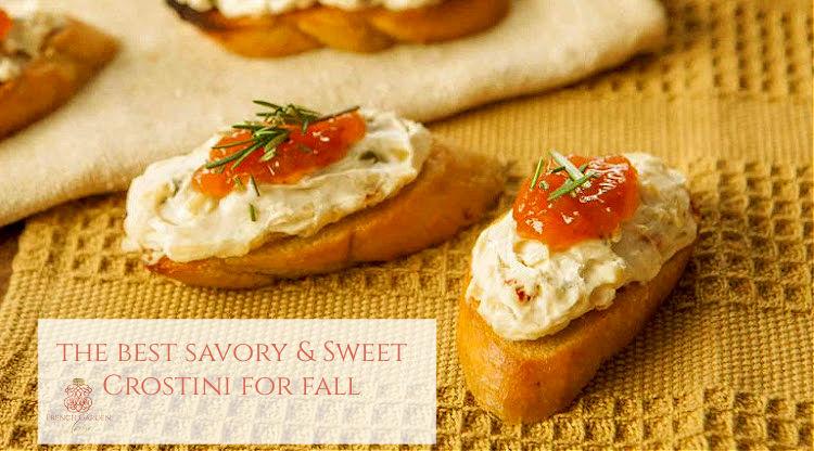 Best Savory & Sweet Crostini for Fall