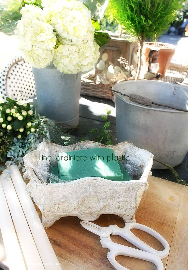 french antique jardiniere