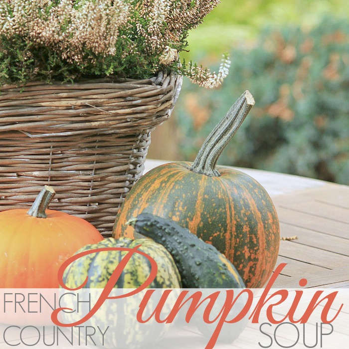 FRENCH COUNTRY PUMPKIN SOUP
