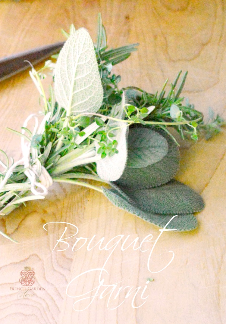 A French woman cooks with bouquet garni