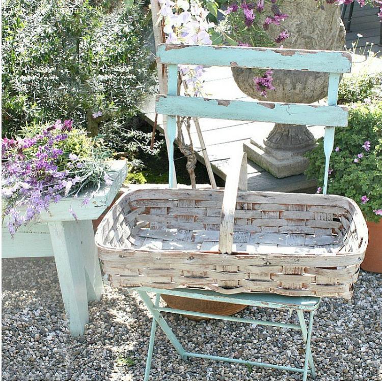 antique garden basket