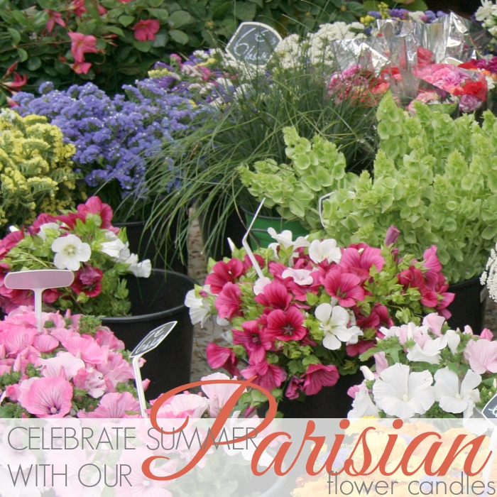 CELEBRATE SUMMER WITH PARISIAN FLOWER CANDLES