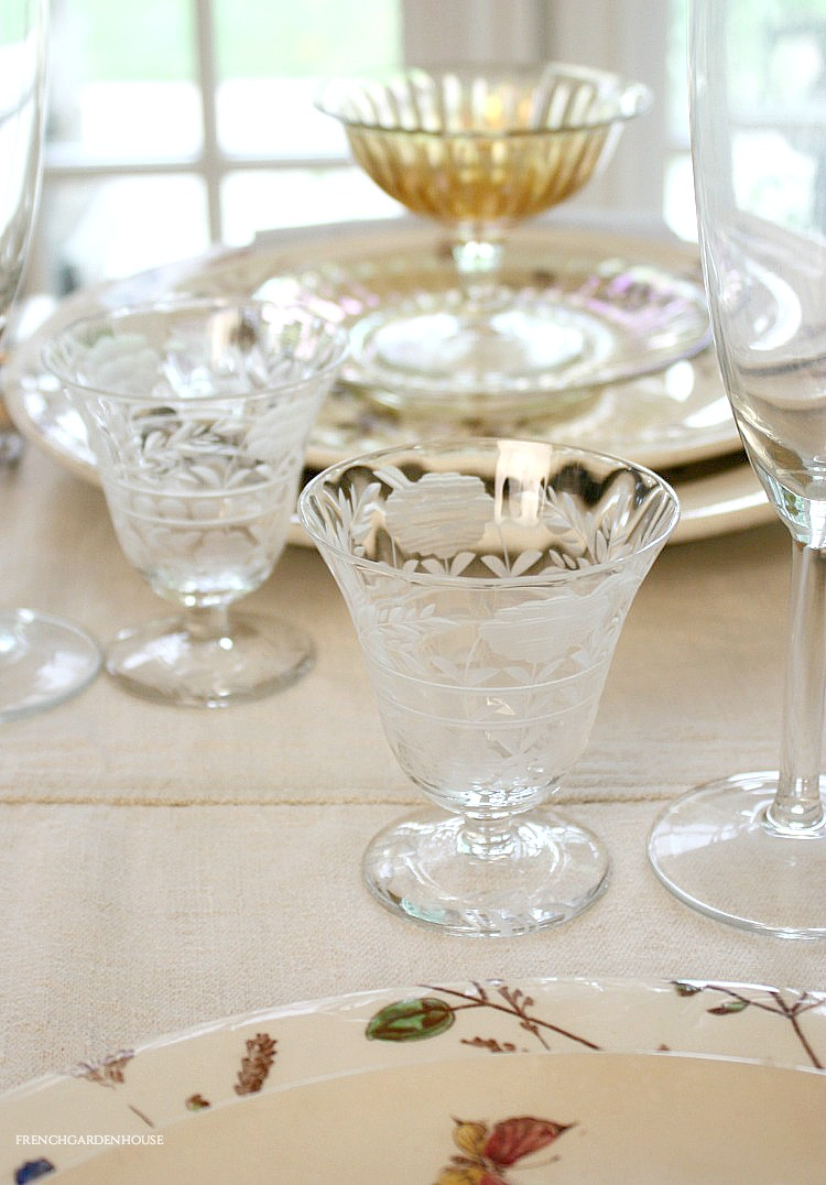 Antique glassware for the table