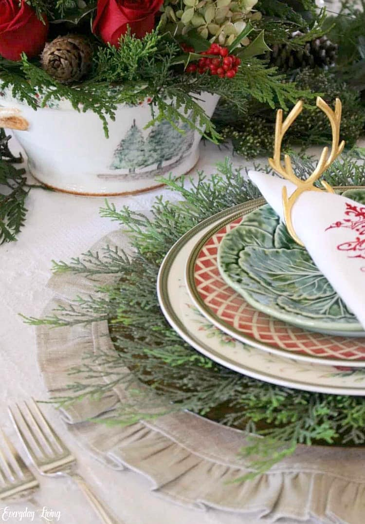 Christmas table with Arte Italica