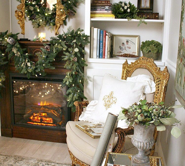 French Inspired Bedroom Mantel