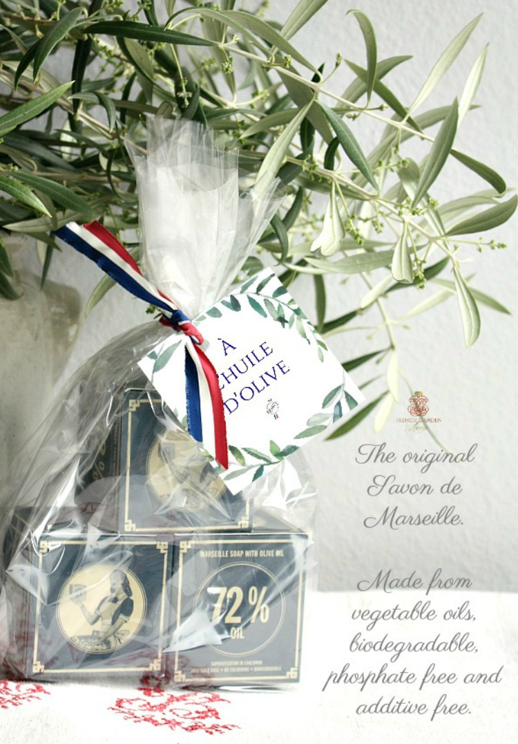French cube soap in a gift set