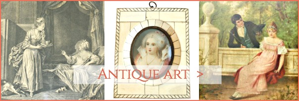 antique french painting and print