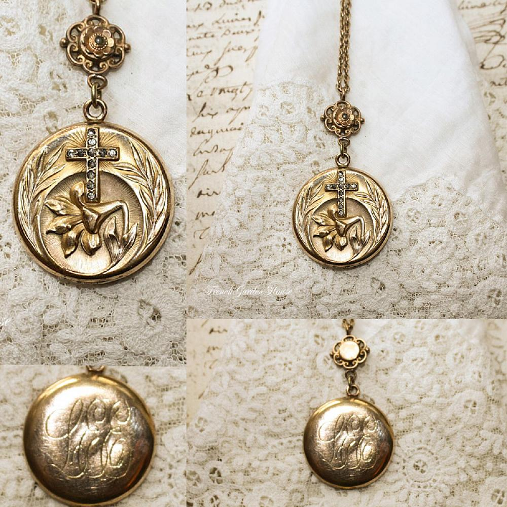 sterling lockets memorystation lovely shape this guess necklace age but the of to exact it monogram isn is locket heart hard vintage t