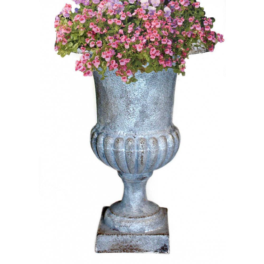 Cast Iron Medici Urn Single Silvered