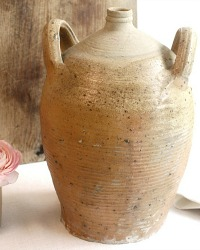 Antique French Country Olive Oil Jar Two Handles