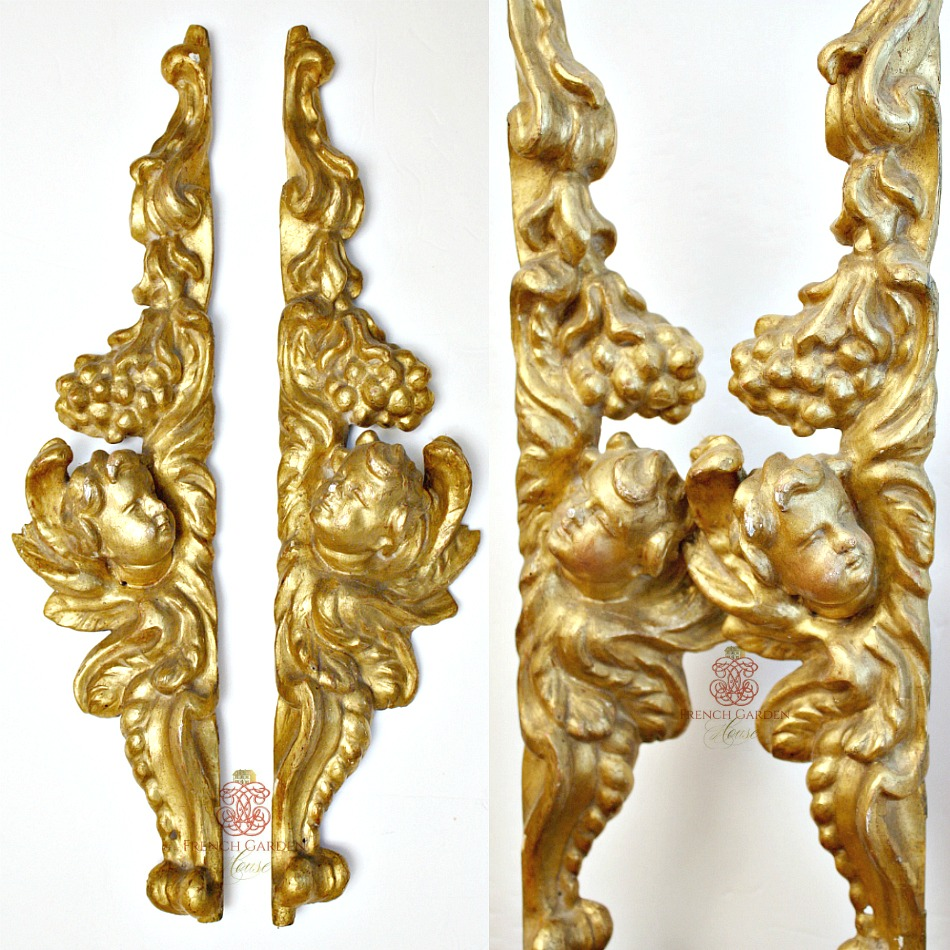18th Century French Parcel Gilt Wood Angel Fragments