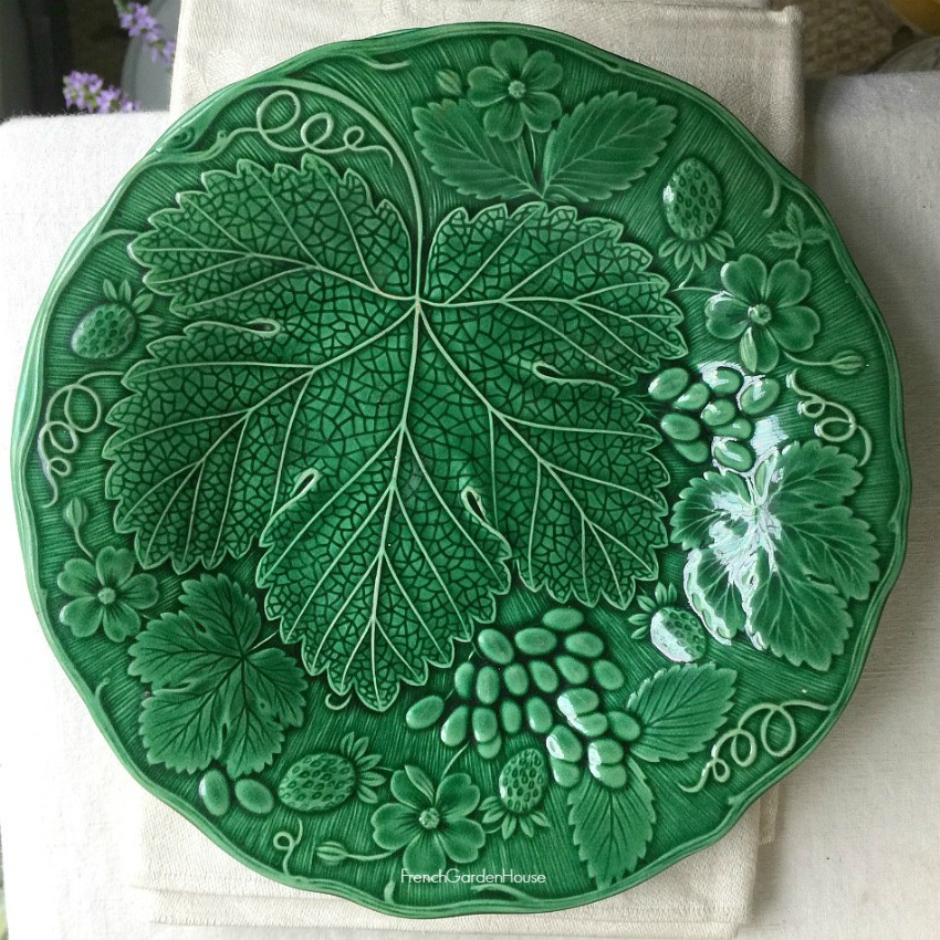 19th Century Wedgwood Vine and Strawberries Greenware Plate