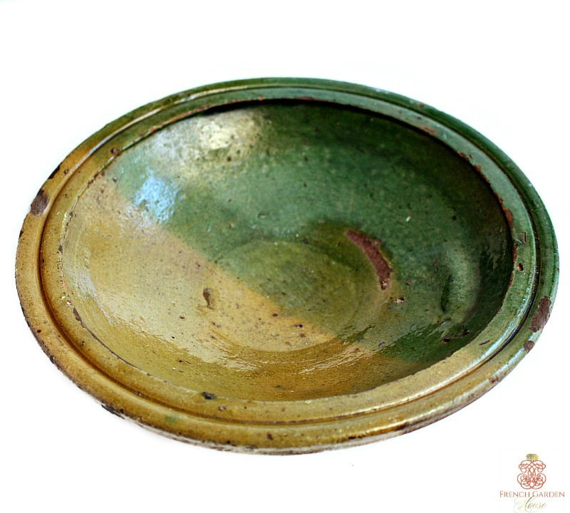 Antique French Provencial Terre Cuite Bowl