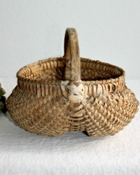 Antique 19th Century Hand Woven Buttocks Splint Basket