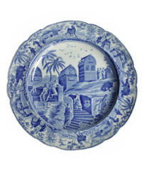1813 Spode Blue and White Caramanian Series Ottoman Empire Plate