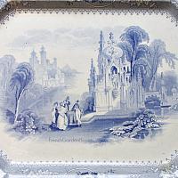19th Century English Blue and White Transferware Platter