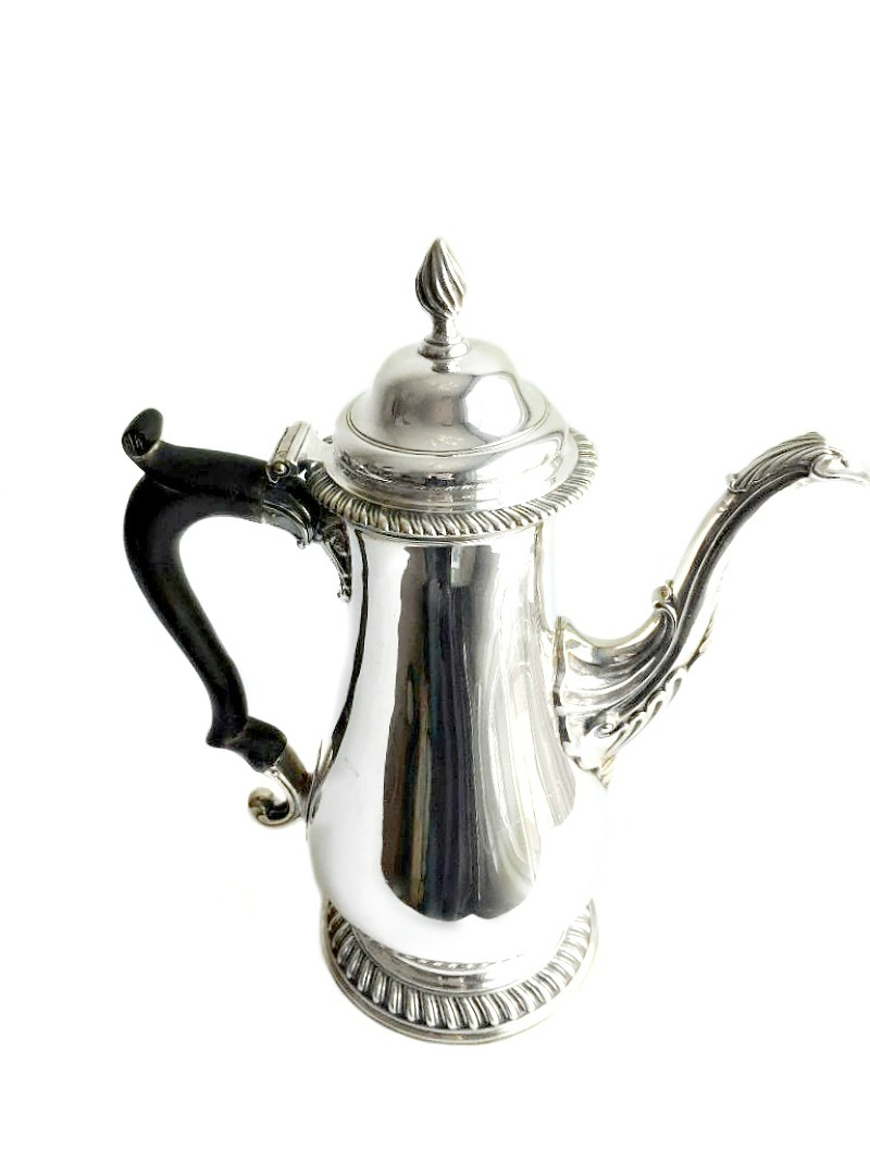 18th Century Antique English Sterling Silver Coffee Pot