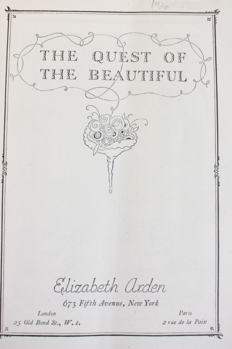 1926 Elizabeth Arden The Quest For Beautiful  Booklet