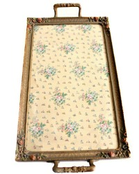 Exquisite Barbola Gold Roses Vanity Tray