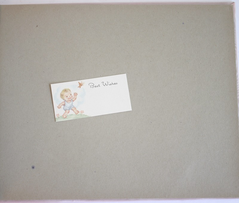 Vintage 1940's Pink Baby Photo Album Unused