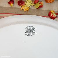 Antique English White Ironstone Oval Platter