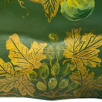 Antique Hand Painted English Chippendale Tole Tray Green