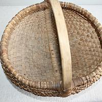 Antique Large Round Hand Woven Rib Type Splint Basket