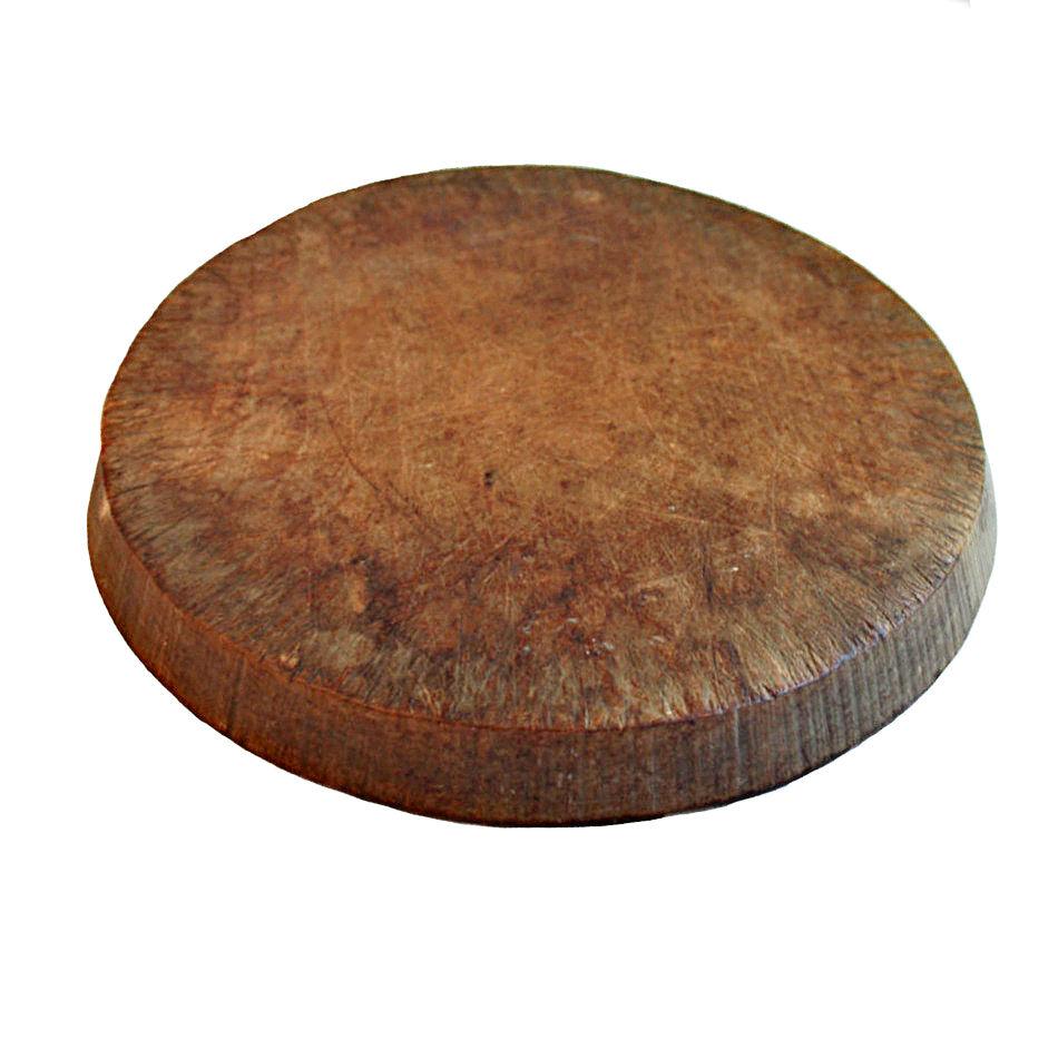 19th Century Antique Scottish Round Shop Cutting Board