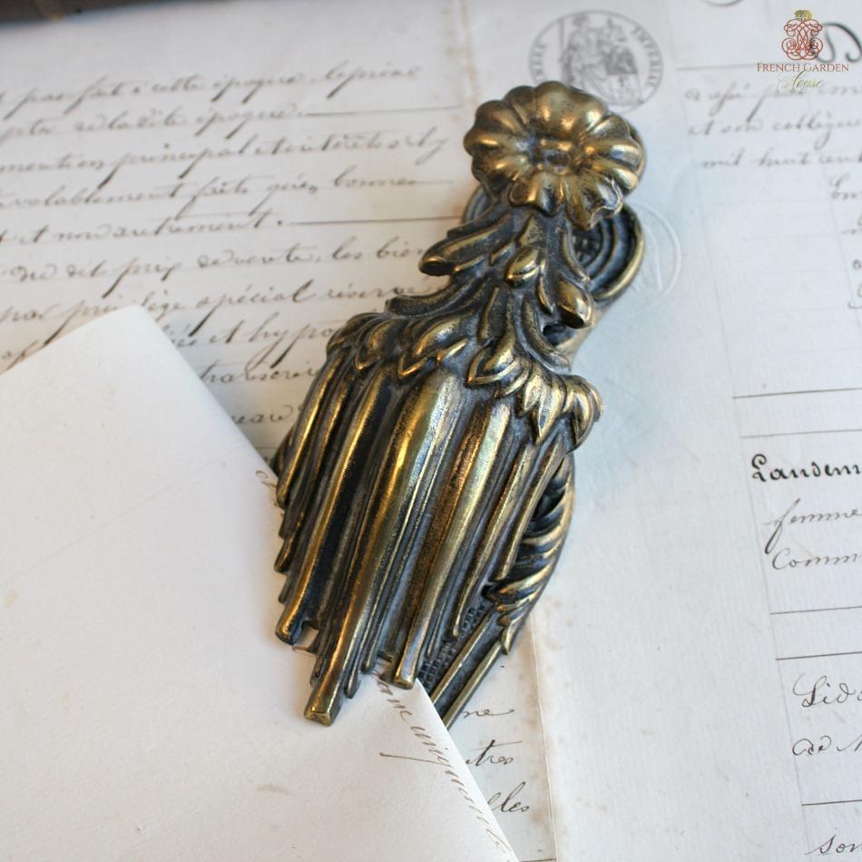 Mid 19th Century Ormolu Gilt Brass Letter Clip