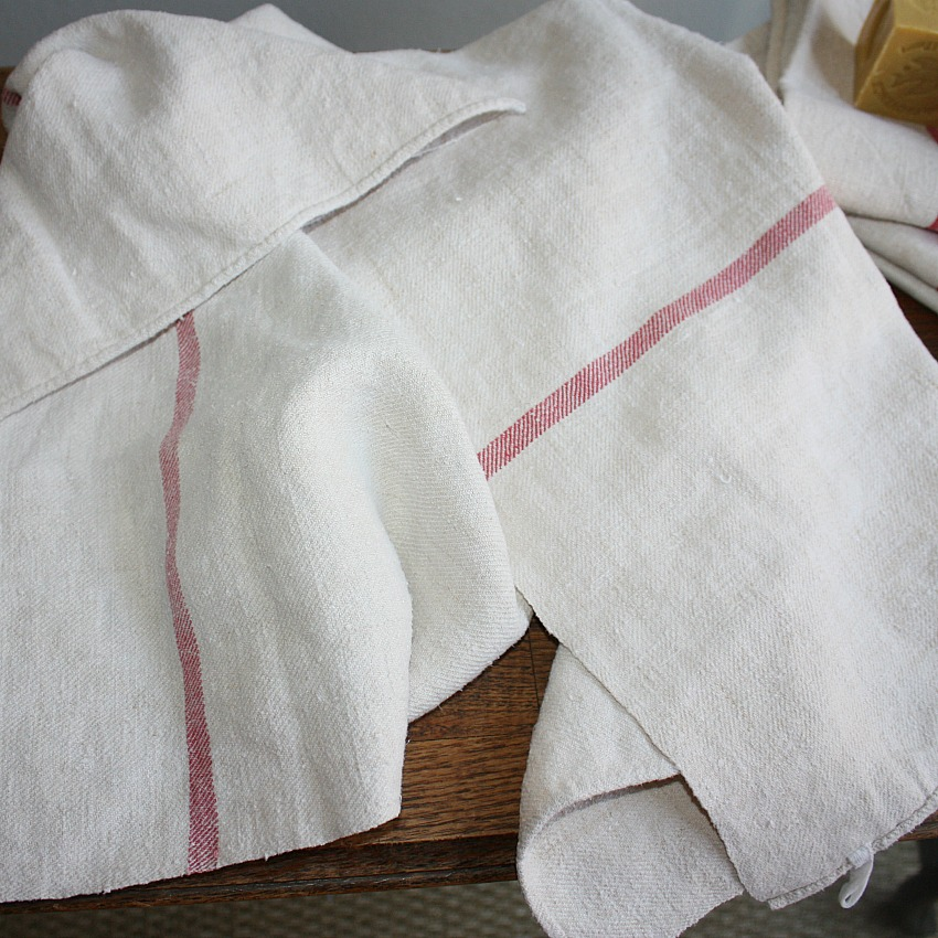 19th Century Hand Woven French Towel