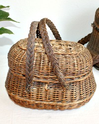 Antique French Petit Train Basket