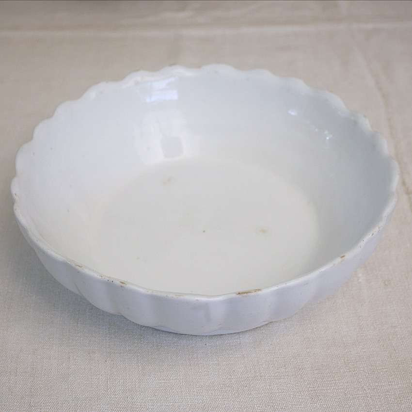 19th Century Antique Staffordshire Ironstone Fluted Bowl