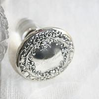 Antique Sterling Silver and Crystal Perfume Bottle Adelia