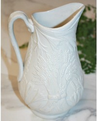 Antique Stoneware Pitcher with Wheat