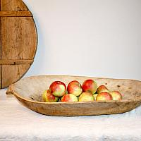 Early Antique Wood Dough Trencher Bowl