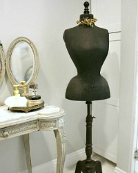 Antique French 19th Century Belle Epoque Wasp Waist Mannequin