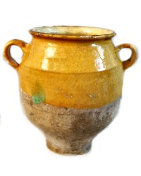 19th Century French Provencal Ochre Confit Pot