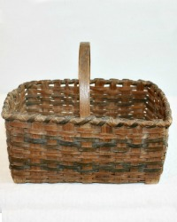 Antique Child's Splint Hand Woven Basket