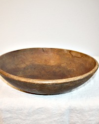 Antique Hand Made Wood Butter Bowl