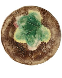 19th Century Antique Majolica Grape & Strawberry Plate