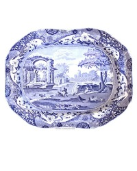 Early 19th Century Copeland Blue & White Pearlware Large Platter
