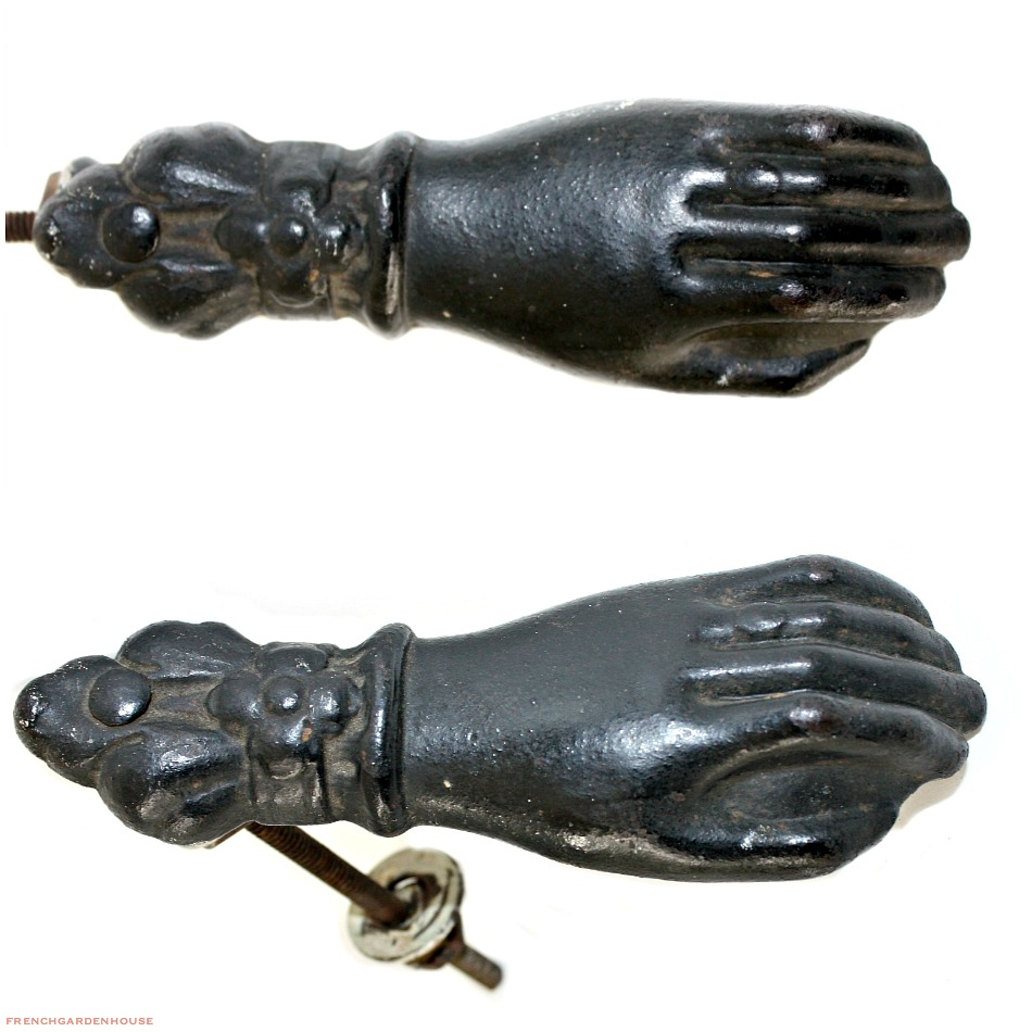 Antique Black Hand Door Knocker