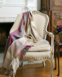 Luxury Lambswool Yorkshire Lavender Throw