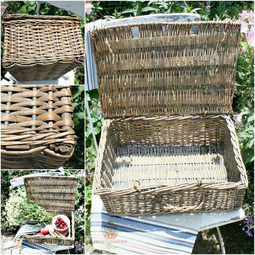 French Country Hand Woven Market Basket Smaller Size