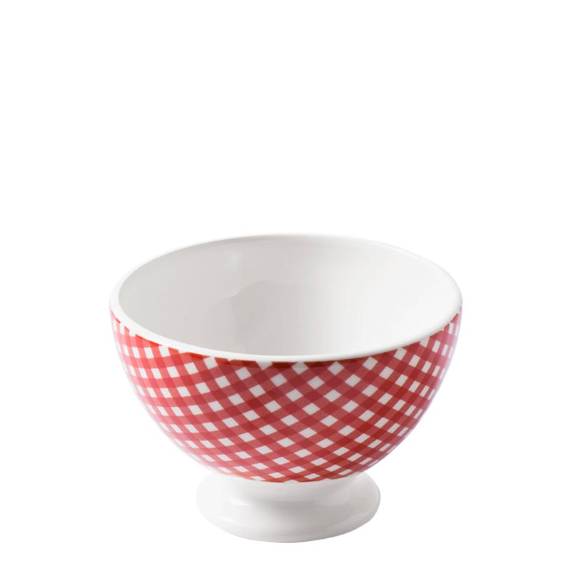 Country French Cafe au Lait Bowl Checks