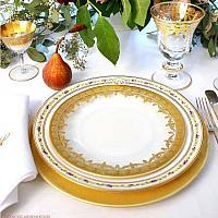 Arte Italica Vetro Gold Salad - Dessert Plate